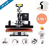 """Best T-shirt Heat Presses - CO-Z 5 in 1 15"""" X 15"""" Multifunctional Review"""