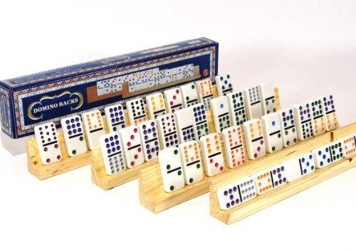 Dominoe Tile Racks _ Bundle of 4 - Plastic Domino Trays