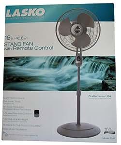 Amazon Com Lasko Model 2740 16in Stand Fan With Remote