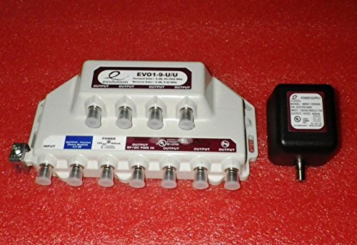 PPC EVOLUTION 9-PORT AMPLIFIER SIGNAL BOOSTER CABLE TV EVO1-9-U/U CATV by PPC