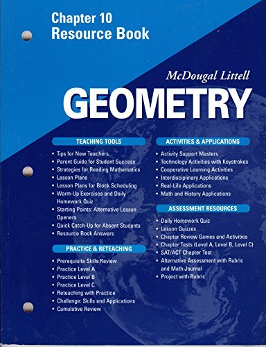 McDougal Littell - Geometry - Chapter 10 Resource Book