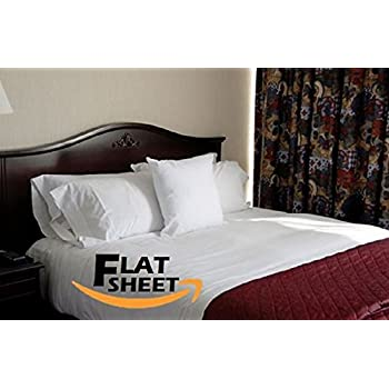Egyptian Bedding 100% Cotton Flat Camper, Motorhome, RV TWIN Bed Sheet, White