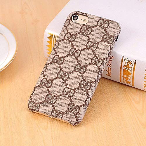 THE ONE Monogram New Elegant Luxury PU Leather Classic Style Cover Case for Apple (iPhone 7/8) ()