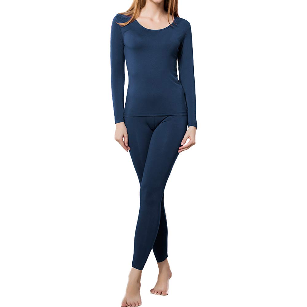 HEROBIKER Thermal Underwear Women Set Winer Skiing Warm Top Thermal Long Johns (S, Blue) by HEROBIKER