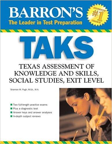 Barron S TAKS Social Studies Texas Assessment Of