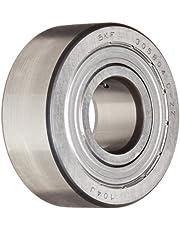 SKF 305804 C-2Z Yoke Type Track Roller, Crowned OD, Shielded, Metric, 20mm Bore, 52mm OD, 20.6mm Width