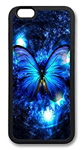 ICORER High Grade iPhone 6 Case, Lady And The Butterfly Durable Case Cover for Apple iPhone 6 4.7in TPU Black