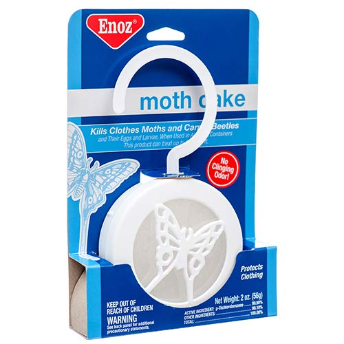 New 379618 Moth Cake Enoz (8-Pack) Trap and Pesticide Cheap Wholesale Discount Bulk Cleaning Trap and Pesticide Rectangular by Dollaritem