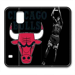 customizeed michael jordan painting chicago bulls 23# for samsung galaxy S5 leather case for sports fan by jamescurryshop by mcsharks