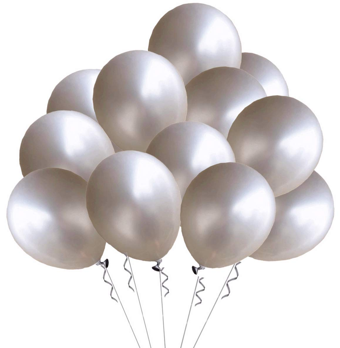 Black Elecrainbow 100 Pack 12 Inch 3.2 g//pc Thicken Round Pearlescent Latex Black Balloons for Party Decorations