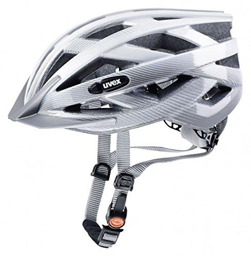 Uvex Fahrradhelm i-vo C, weiß-Silver, 52-57, 4104170815