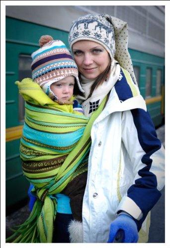 415e6fd2ee9 Amazon.com   Ellevill Wrap Baby Carrier - Zara Linen Green (tri-green)    Child Carrier Slings   Baby