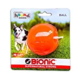 Bionic Ball Durable Tough Fetch & Chew Toy, Orange, Medium