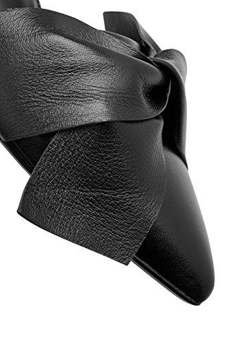 Piel Salón Negro Mujer next Lazo De Zapatos Dos Partes OBOxqzH0
