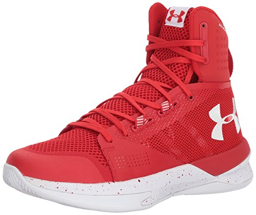 Image of Under Armour Men's Highlight Ace Volleyball Shoe, Red (611)/White, 8