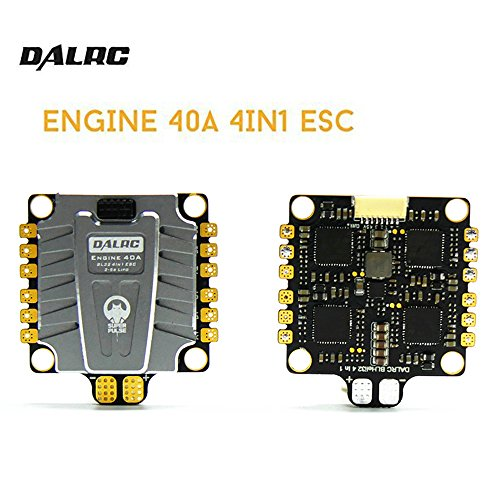 RCmall DALRC Engine 4 in 1 ESC 40A 3-5S Blheli_32 Brushless ESC DSHOT1200 Ready W/5V BEC for FPV Freestyle RC Racing Drone Quadcopter Frame