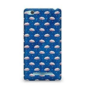 Amez designer printed 3d premium high quality back case cover for Xiaomi Mi4i (Cloud texture blue art pattern)