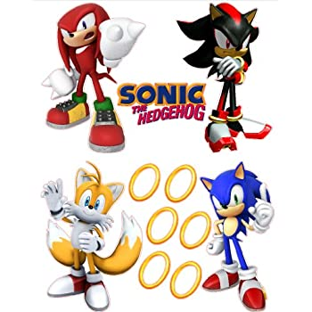 Sonic The Hedgehog Tails, Knuckles, And Shadow Removable Wall Stickers Set Images