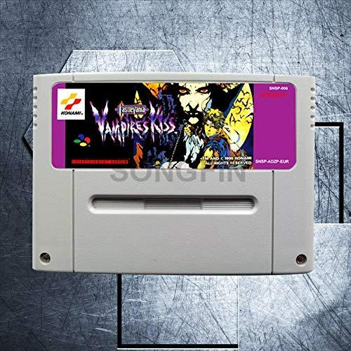 Castlevania Vampire's kiss 16 Bit Big Gray Game Cartridge for PAL/EUR Version Game Console - MD card Game Card For Sega Mega Drive For Genesis