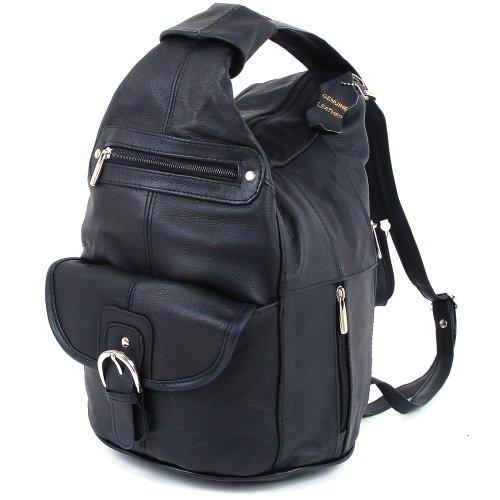 Women S Genuine Lather Convertible Backpack Shoulder Bag
