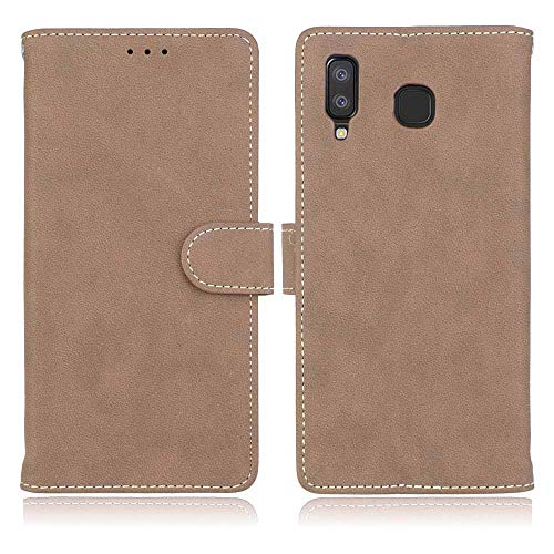 766 Star - Compatible with Samsung Galaxy A8 Star (A9 Star) Case, FugouSell Premium PU Leather [Flip Stand] Slim Wallet Case Full Body Protection Cover for Samsung Galaxy A8 Star (A9 Star) (Beige)