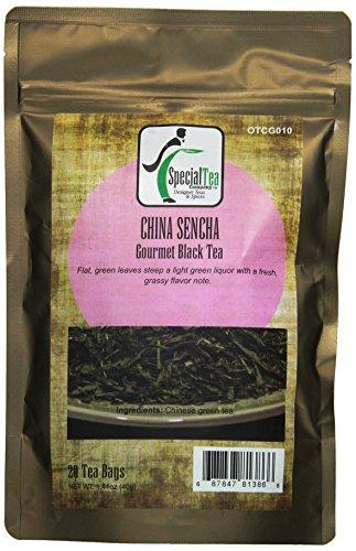 Special Tea Organic China Sencha Green Tea Bags, 1.41 Ounce