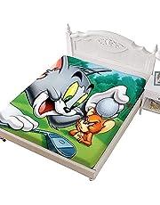 CCBZLY Tom and Jerry Hoeslaken, Anime 3D Print Hoeslaken, Zachte Decoratiestof Beddengoed, 100% microvezel