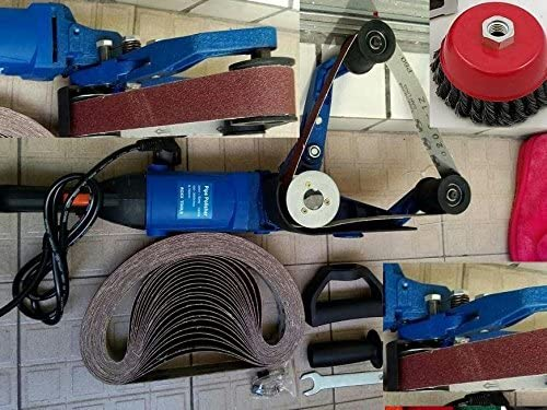 Pipe Polisher pipe tube grinder 30 Belt cup brush also a powerful grinder belt fits metabo HG 331 one year warranty variable speed