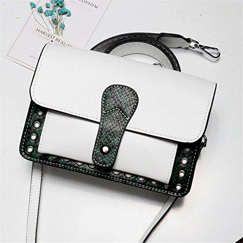 Bag WHITE Bags FONKIC Shoulder Crossbody Bags Zipper Tote Mujeres Satchel White para Small E7n7qv