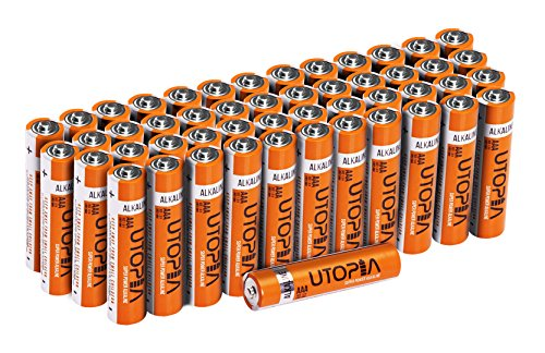 Utopia Home AAA Alkali Battery (Pack of 50) - Long Lasting Performance - Perfect for Daily Use by Utopia Home