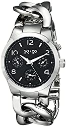 88% off on SO&CO New York Women's 5013.5 SoHo Quartz Day and Date Stainless Steel Bracelet Watch