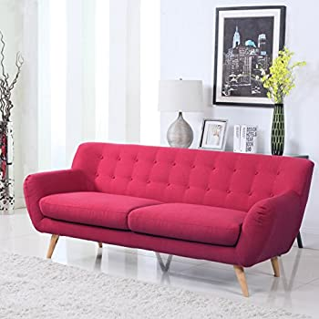 Amazon Com Modern Mid Century Sofa Loveseat Divano Roma