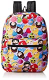 Disney Little Girls Princess Emoji Print Backpack, Purple, One Size