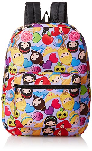 Marvel Little Girls Princess Emoji Print Backpack, Purple, One Size