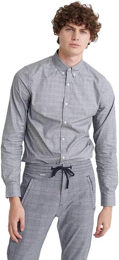 Superdry Edit Button Down Camisa Hombre Black Check: Amazon.es: Ropa y accesorios