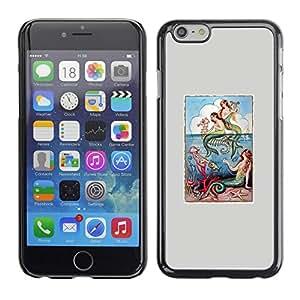 TopCaseStore / la caja del caucho duro de la cubierta de protección de la piel - Nature Grey Sea Mystical Poster - Apple iPhone 6