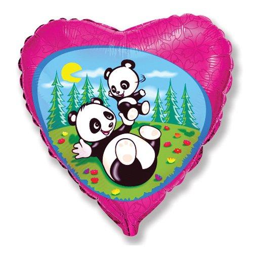 LA Balloons Foil Balloon 201642 Funny Pandas 18 Multicolor