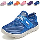 WALUCAN Boys and Girls Water Shoes Breathable Mesh Running Shoes Anti-Slip Sneakers (Little/Big Kids)