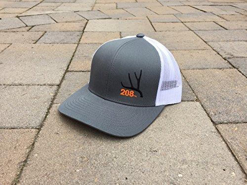 Idaho Trucker Hat Mule Deer Antler 208 Area Code Hat (Graphite)
