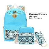 Upgraded Imyth Bohemia Cute Backpack Casual School Bag Daypack Travel Bag for Girls with YKK zipper (large LakeBlue3)