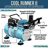 Master Airbrush 1/5 HP Cool Runner II Dual Fan Air