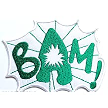BAM! Patch 3 Inches Embroidered Iron / Sew on Badge Applique Motif - Free Shipping!