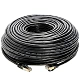 100FT S/FTP CAT 7 Gold Plated Shielded Ethernet RJ45 Cable 10 Gigabit Ethernet Network Patch Cord Cat7 (100ft, Black)