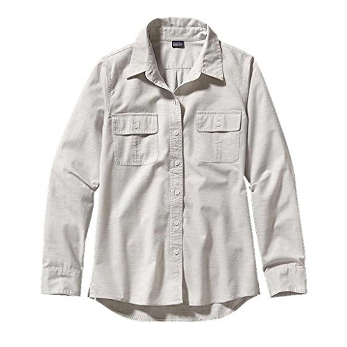Patagonia Women's Long Sleeve Featherstone Shirt Chambray Tailored Grey (Patagonia Long Sleeve)
