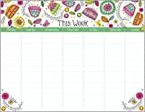 Fun Floral Weekly Calendar Pad with Attachable Magnet