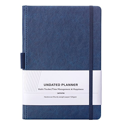UNDATED Weekly & Monthly Planner + Goal and Productivity Planner with Premium Thicker Paper, Pen Holder with 40 Notes Pages, 5.75