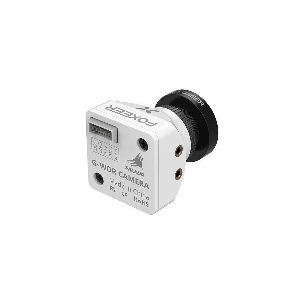 Ocamo Juguete Foxeer Falkor 1200TVL Mini / Full Camera 16: 9/4: 3 GWDR conmutable PAL / NTSC Blanco 1.8Mm