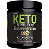 Giant Keto-Exogenous Ketones Supplement - Beta-Hydroxybutyrate Keto Powder Designed to Support Your Ketogenic Diet, Boost Energy and Burn Fat in Ketosis - Lemon Raspberry - 10 Servings