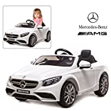 Official Licensed Mercedes Benz Ride On Car with Remote Control for Kids | 12V Power Battery AMG S63 Kid Car to Drive with 2.4G Radio Parental Control White