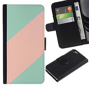 iBinBang / Flip Funda de Cuero Case Cover - Clean Line minimalista Patrón - Apple Iphone 5 / 5S